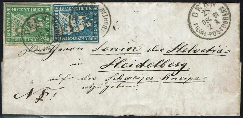 """Schweiz 1854-1863 """"Strubel"""" Sitzende Helvetia Ungezähnt Ch_min10"""
