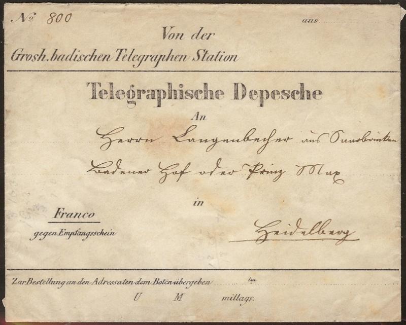 Telegramme aus Altdeutschland Telegr10