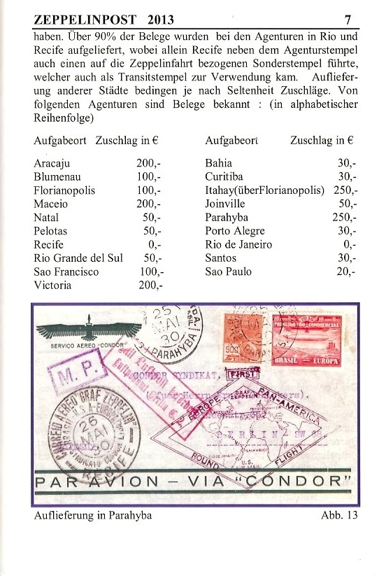 """nach - Südamerikafahrt 1930 (Rundfahrt-) Post nach Friedrichshafen"""" - Seite 6 Zeppel10"""