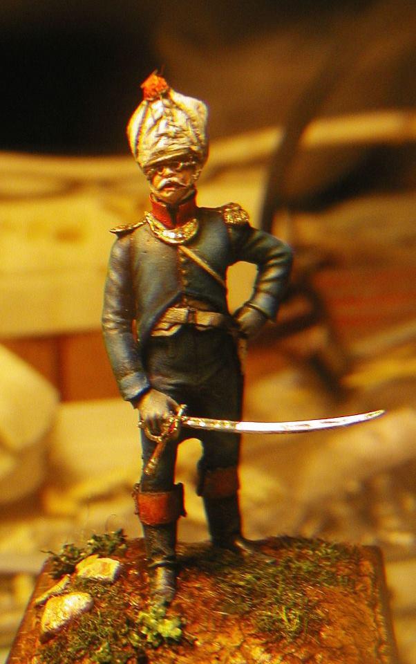 Capitaine des grenadiers du 4° de ligne à Liepzig 1813 38068010
