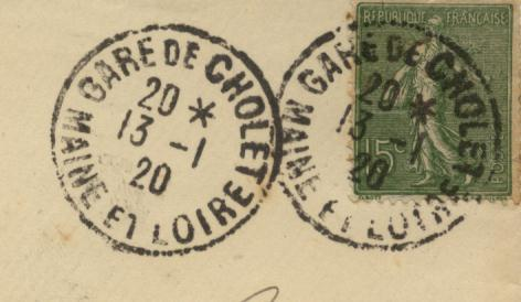 Les cachets des courriers convoyeurs lignes 1920-010