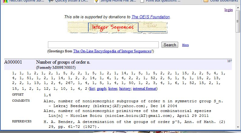 Encyclopedia of Integer Sequences - Page 3 Commen11