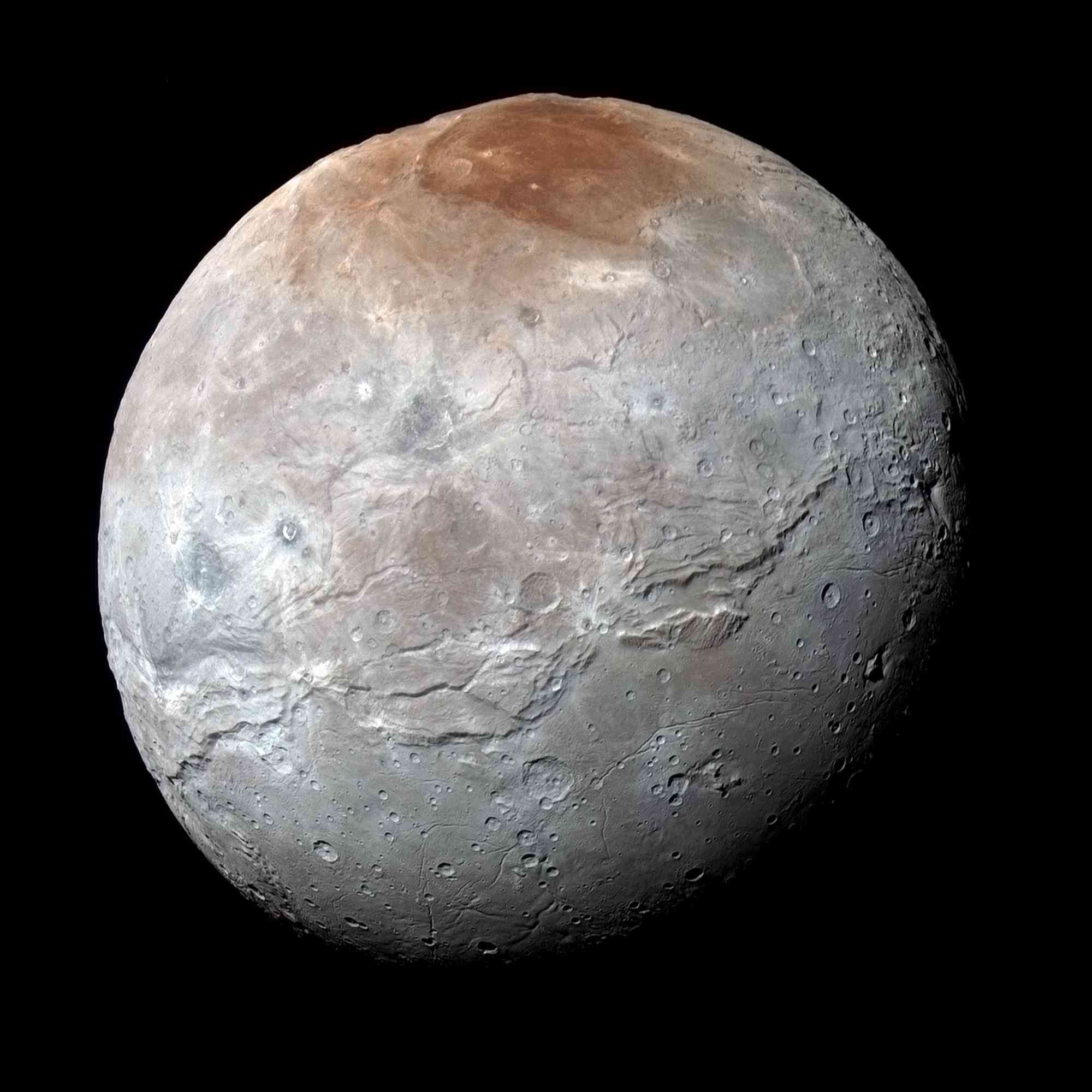 Structures and artifacts on Pluto's moon Charon... Nh-cha10