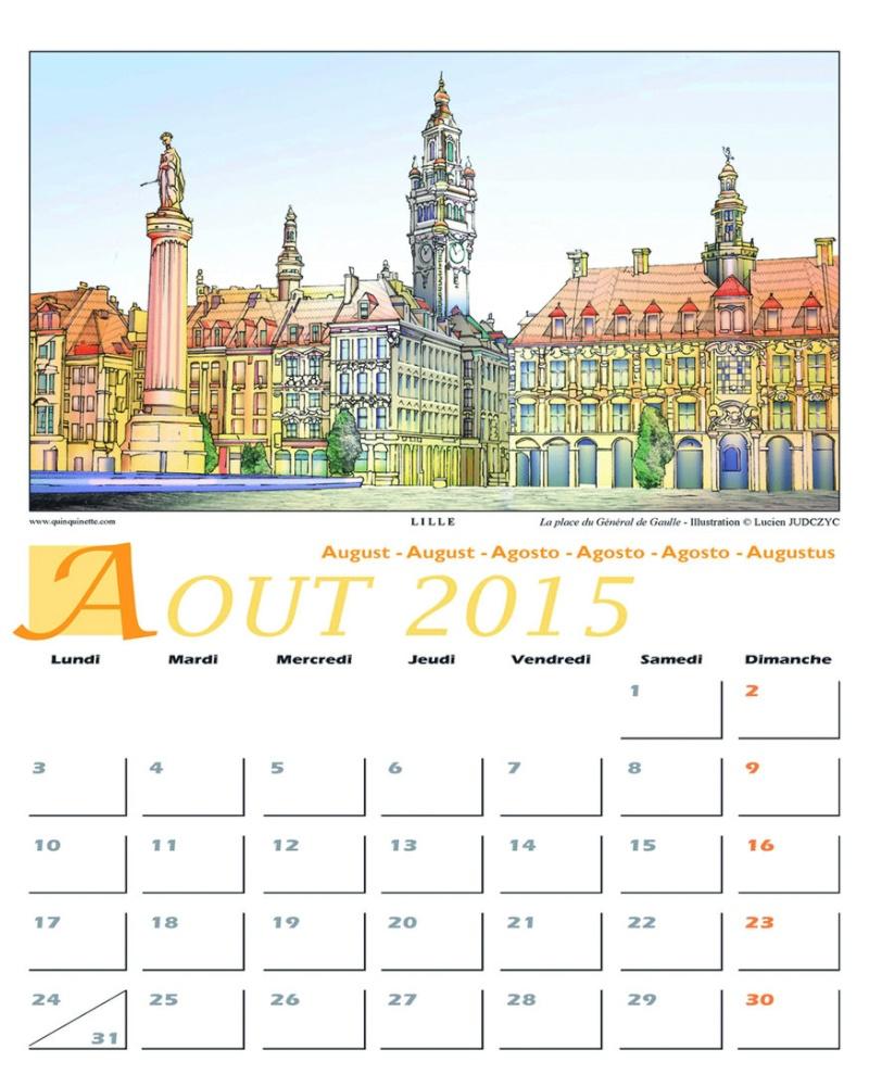 CALENDRIERS ORIGINAUX DES MOIS DE L ANNEE PAR ORDRE ALPHABETIQUE - Page 2 Aout_610
