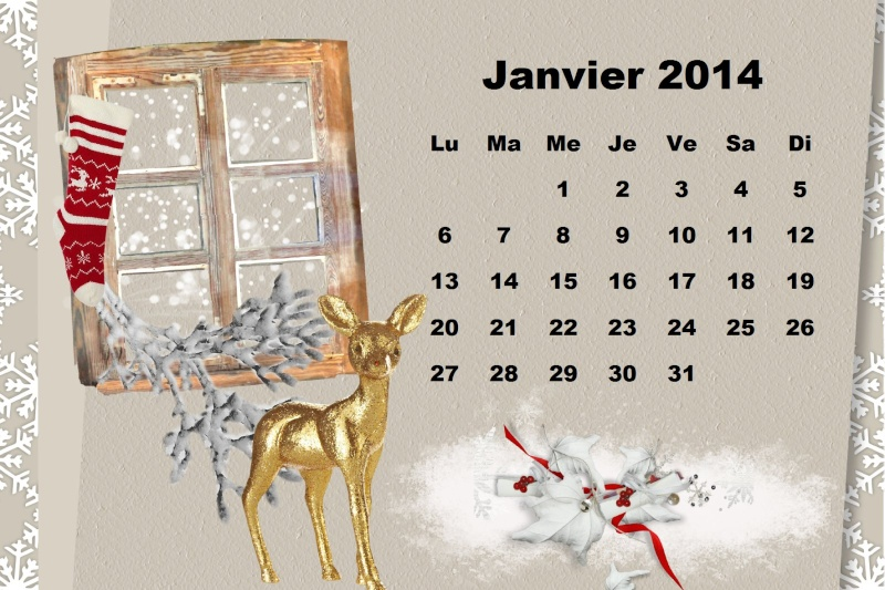 CALENDRIERS ORIGINAUX DES MOIS DE L ANNEE PAR ORDRE ALPHABETIQUE Janvie10