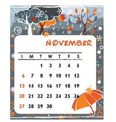 CALENDRIERS ORIGINAUX DES MOIS DE L ANNEE PAR ORDRE ALPHABETIQUE Novemb10