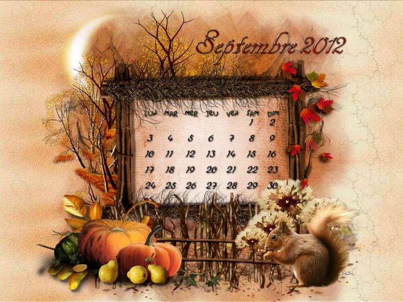 CALENDRIERS ORIGINAUX DES MOIS DE L ANNEE PAR ORDRE ALPHABETIQUE Septem10