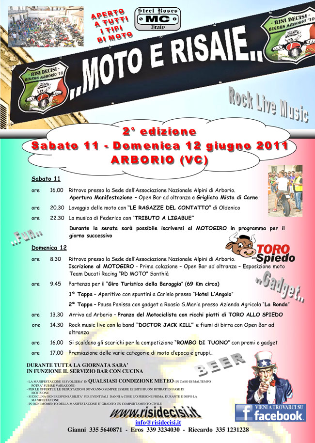 MOTO e RISAIE - 11-12 giugno ARBORIO (Vc) 13056610