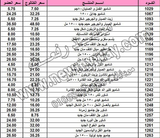 قائمة أسعار المنتجات .. بسعر الكتالوج ، بسعر العضويه خلال شهـر اكتوبـــــــر 2015 1_o11