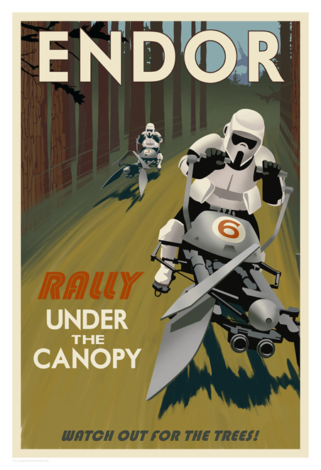 ACME - Steve Thomas - Star Wars Travel Posters  Swotlt12