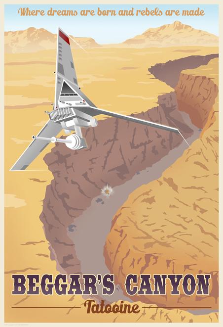 ACME - Steve Thomas - Star Wars Travel Posters  Swotlt15