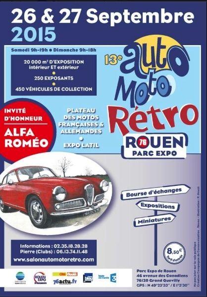 Auto Moto Rétro Rouen 26 et 27 Septembre 2015 Captur18