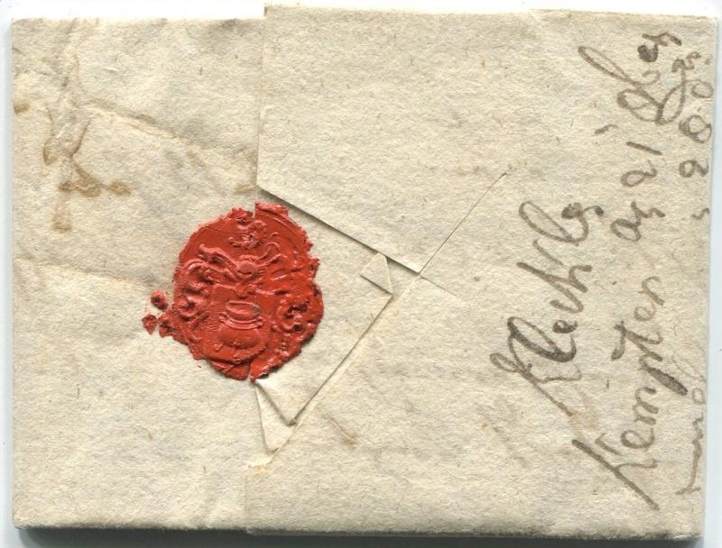 Briefe aus der Vormarkenzeit aus - nach und über Salzburg Kempte11