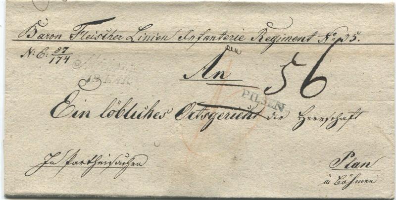 Österreichische Militärpost aus - und in die Bundesfestung Mainz Mainz-12