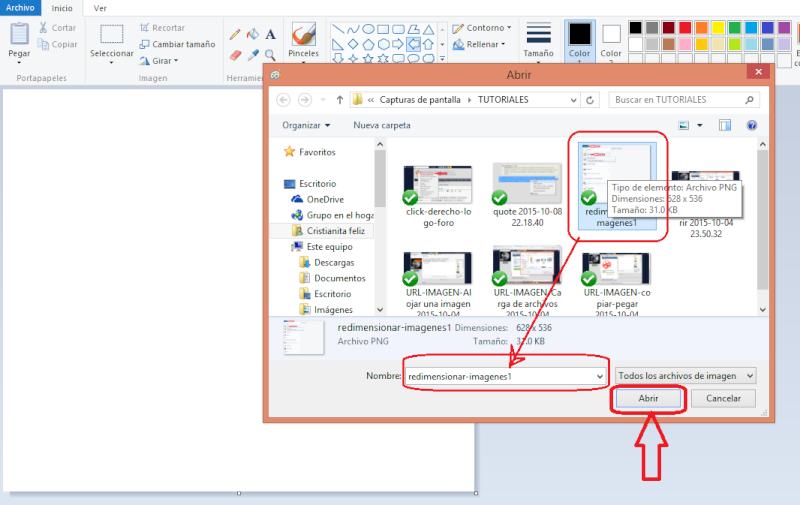 Cómo cambiar el tamaño de una imagen Redime11
