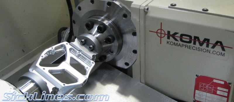 Prototype nouvelle pédale vtt dh, bel usinage Amp-pe10