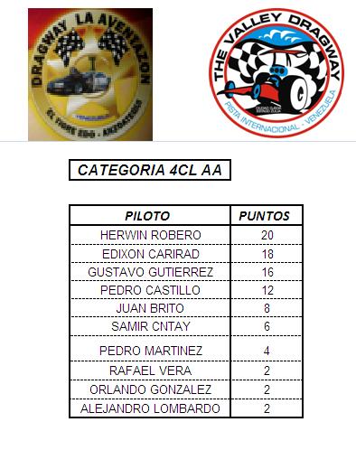 PUNTUACION DEL CAMPEONATO PROFESIONAL 4cilaa10