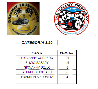 PUNTUACION DEL CAMPEONATO PROFESIONAL 89010