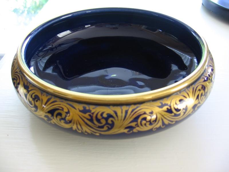 French cobalt blue porcelain Vase - Sainte Radegonde Tours  French23