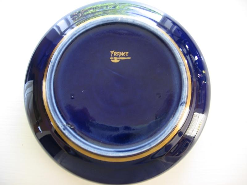 French cobalt blue porcelain Vase - Sainte Radegonde Tours  French24