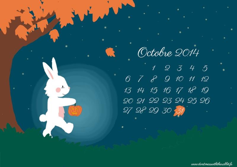CALENDRIERS ORIGINAUX DES MOIS DE L ANNEE PAR ORDRE ALPHABETIQUE - Page 3 Bunny-10