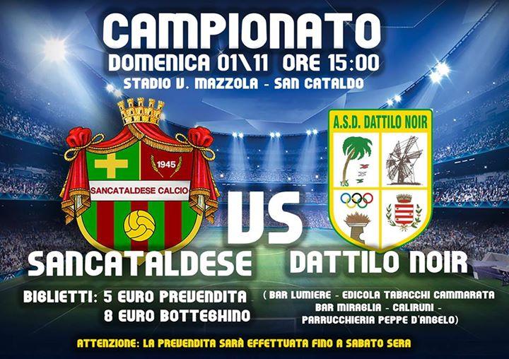 Campionato 8°giornata: Sancataldese - dattilo noir 1-1 10403010