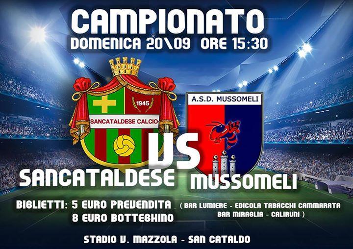 Campionato 2°giornata: Sancataldese - mussomeli 3-0 11230210