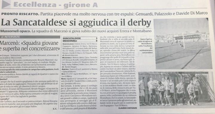 Campionato 2°giornata: Sancataldese - mussomeli 3-0 12003210