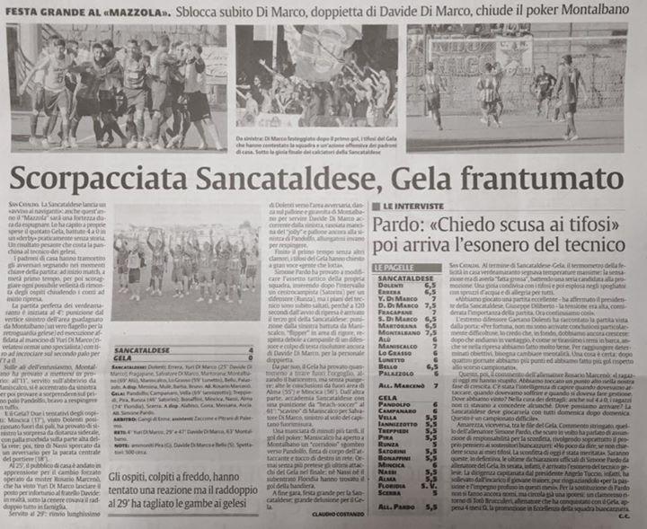 Campionato 4°giornata: Sancataldese - gela calcio 4-0 12108110
