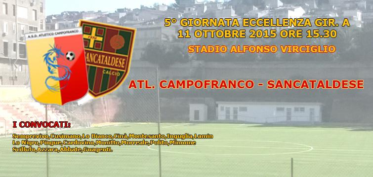 Campionato 5°giornata: atl. campofranco - Sancataldese 0-1 210
