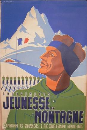 jeunesse - Affiche Commissariat des Groupements jeunesse et montagne Jeunes11