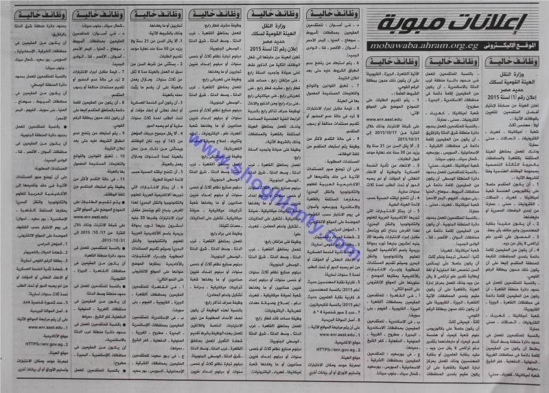 اعلان وظائف الهيئة القومية لسكك حديد مصر - اعلان رقم 1 لسنة 2015 - اعلان رقم 2 لسنة 2015 Image10