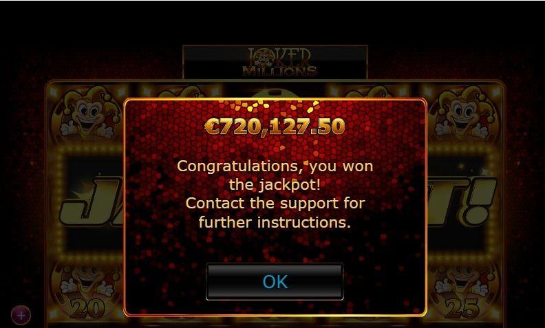 EuroSlots Casino big wiinner €720,127.50 Eurosl10
