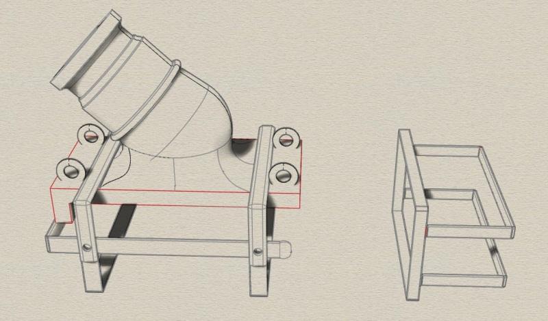 """Réalisation des mortiers de 12 à plaque pour """"La Salamandre"""" 1752. Vue_rh10"""