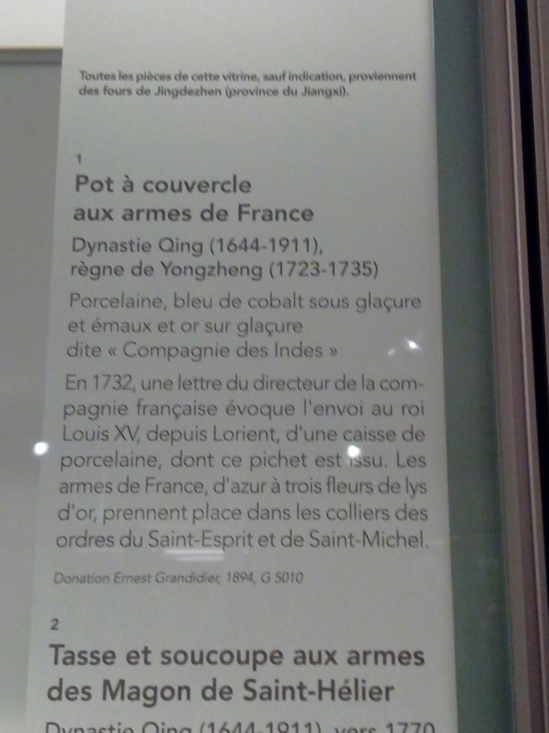 Porcelaine chinoise du musée Guimet aux armes de Louis XV 20180312