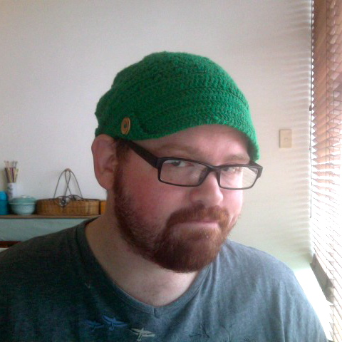 Green Brimmed Crochet Hat Photo_10