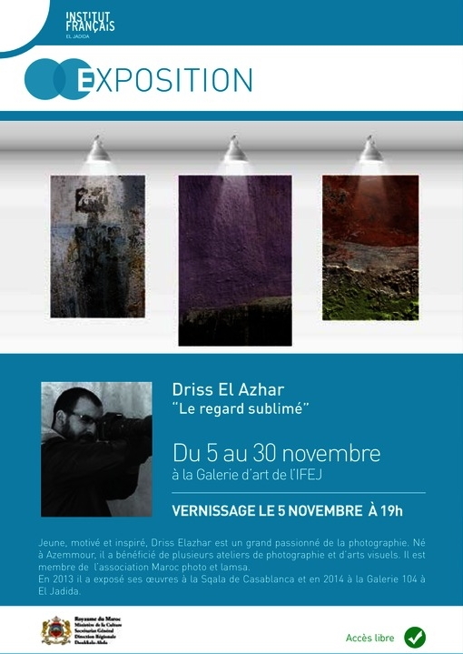 "05/11 au 30/11 - Exposition photographique ""le regard sublimé"" Galerie d'Art de l'Institut Français (vernissage : 05/11, 19 h) Progra12"