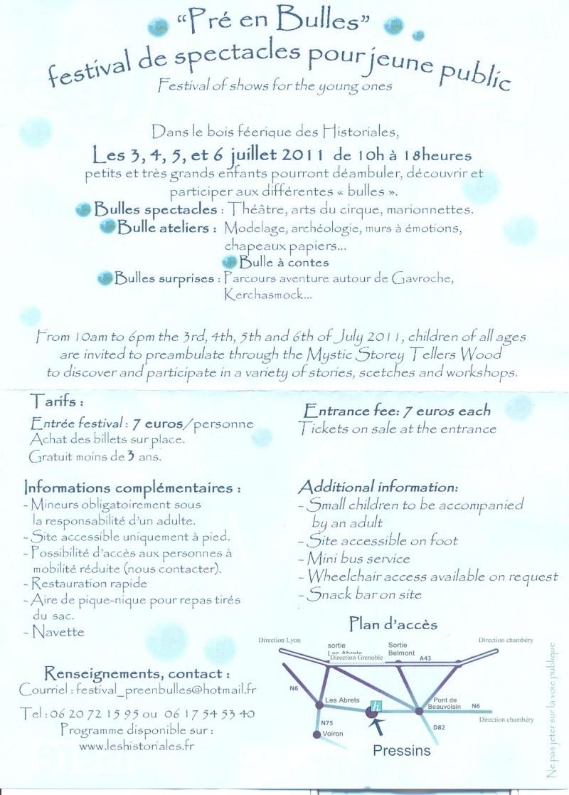 Festival Jeune Public, Pré en bulles, 3-4-5-6 juillet à Pressins Pra_au11