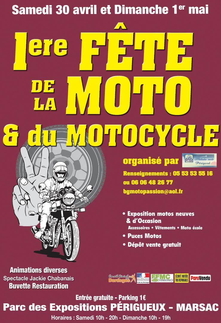 première fête de la moto a Périgueux samedi 30 avril et dimanche 1er mai Fetemo10
