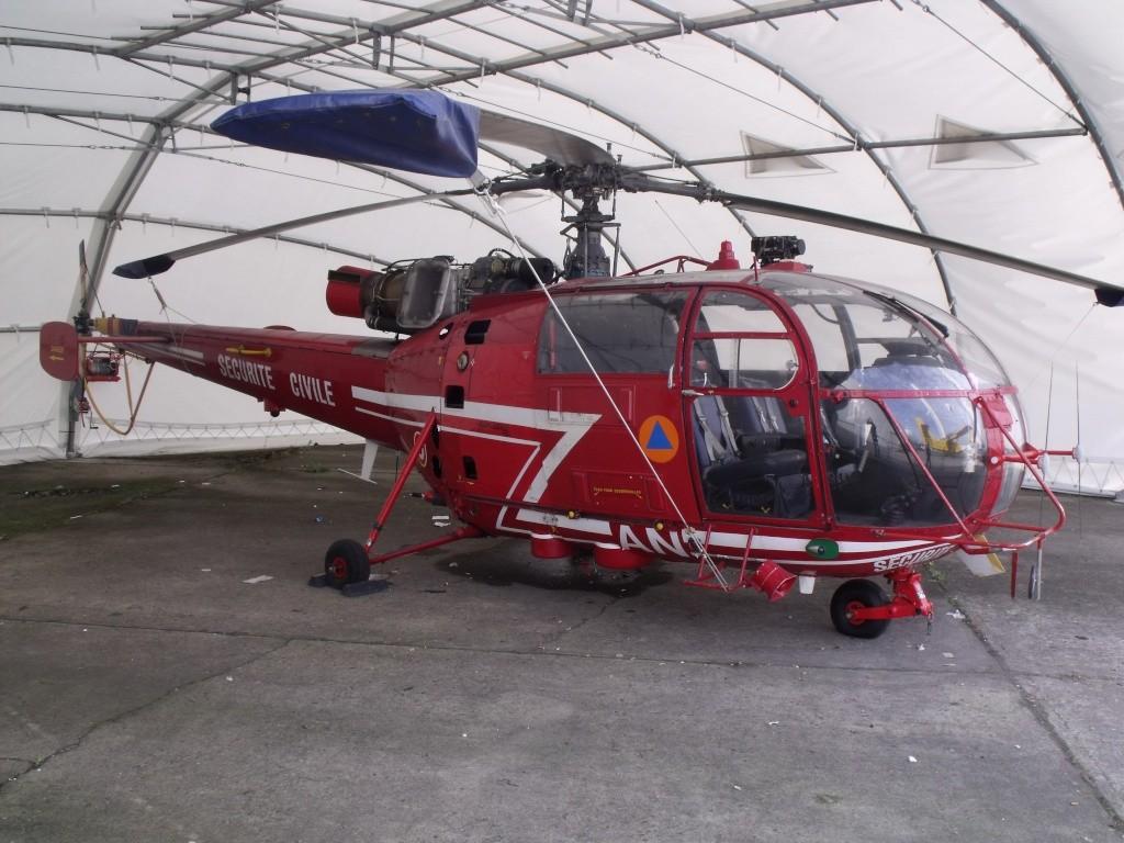 Sud-Aviation SA-316B Alouette III en rouge. Photo_10