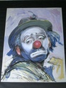 ORIGINAL PICTURE OF A CLOWN SIGNED 00610