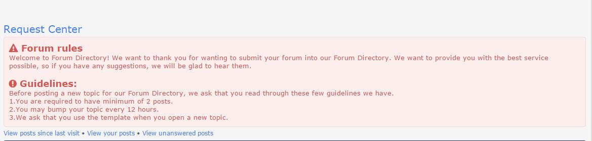 Modificar caixa de regras do fórum das categorias 212
