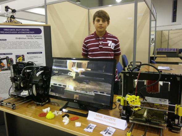 15-vjeçari shqiptar krijon robotin me printer 3D Roboti11