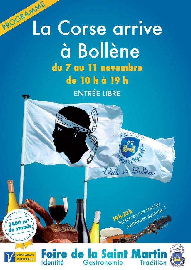 La Corse arrive à Bollène du 7 au 11 novembre Progra10