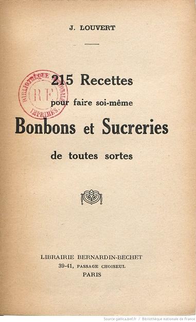 Ouvrages anciens :  Les livres de cuisine  Bonbon10