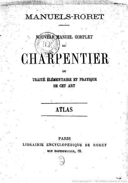 Ouvrages anciens :  Arts et Métiers  Charpe10