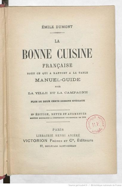 Ouvrages anciens :  Les livres de cuisine  La_bon10