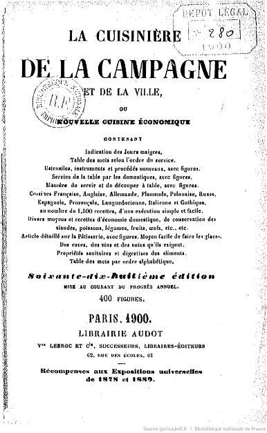 Ouvrages anciens :  Les livres de cuisine  La_cui10