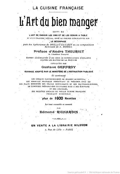 Ouvrages anciens :  Les livres de cuisine  Lart_d10