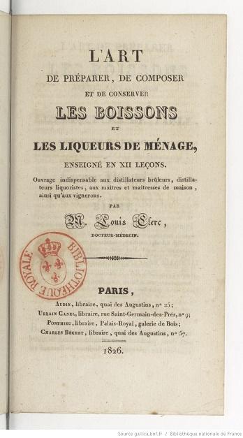 Ouvrages anciens : Les Breuvages .. Lart_d11